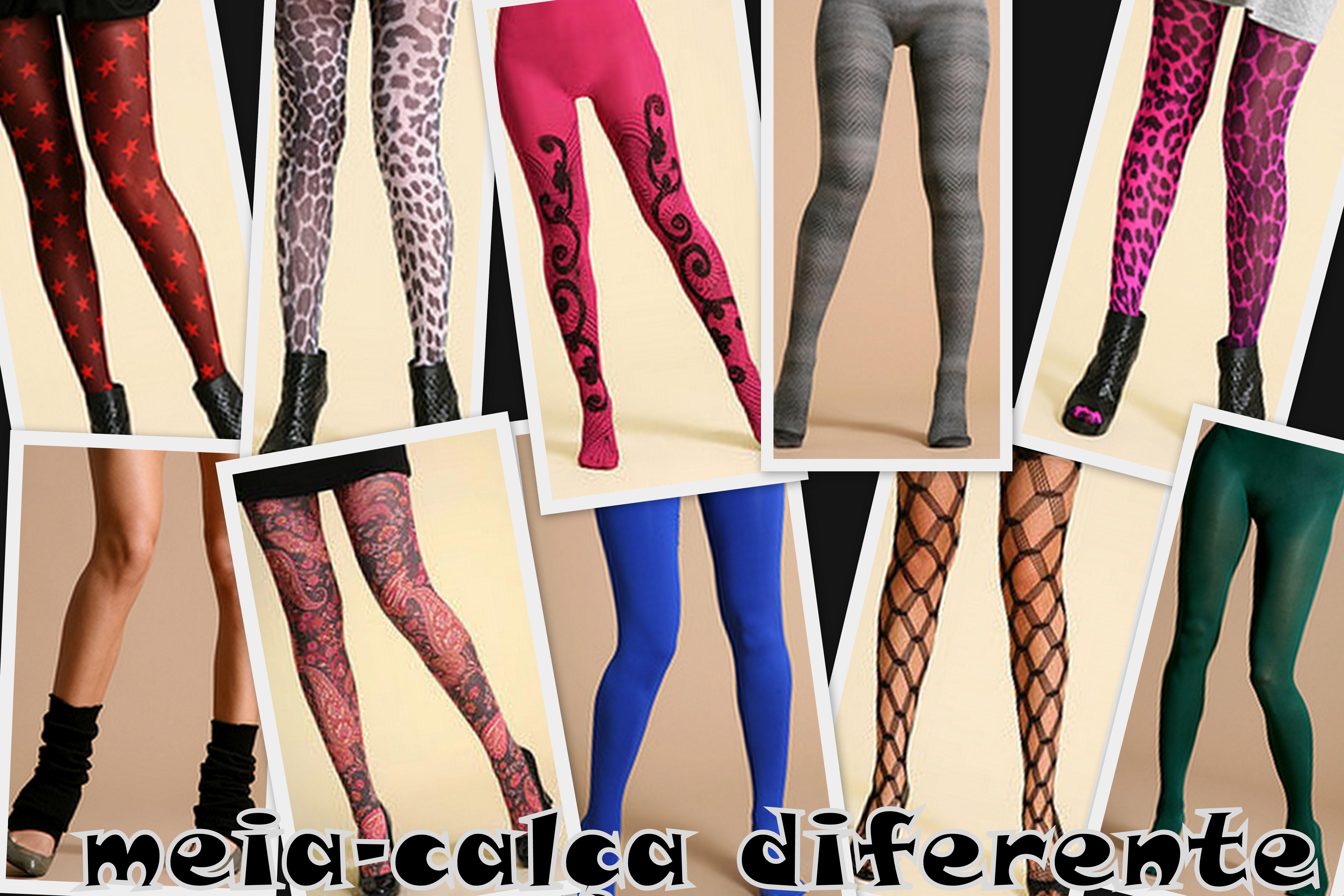 c379dfde08629 Moda no Mundo da Lu  Mais do mesmo  meia-calça colorida para ...
